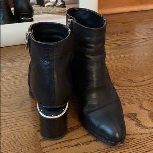 Alexander Wang leather black booties